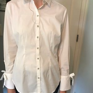 New York & company XS button of white shirt
